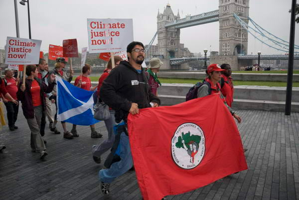 Brazilians lead Carbon protest in London