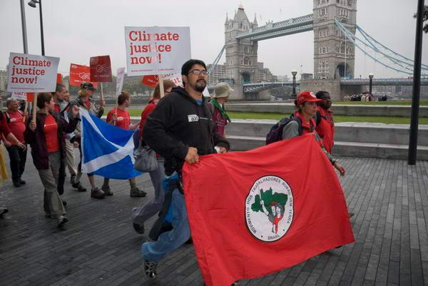 Brazilians lead Carbon protest in London