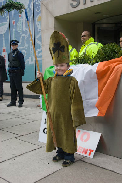 St Patrick outside Shell HQ