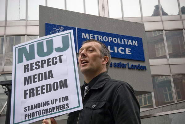 NUJ photo protest