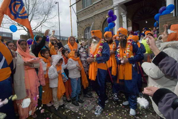 Coming out of the Gurdwara