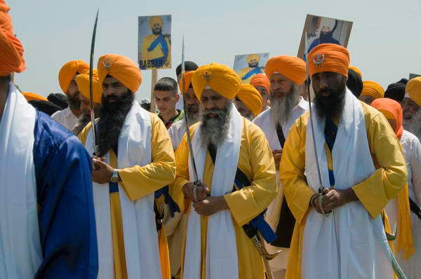 Sikhs on the march