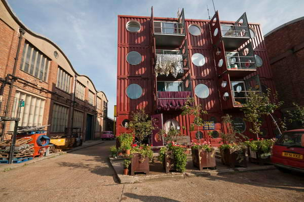 Container city trinity buoy wharf london a tour of these isles britain ireland - Container homes london ...