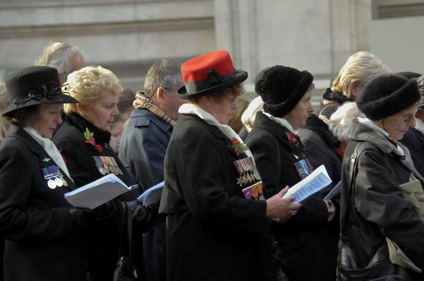 war widows at Cenotaph
